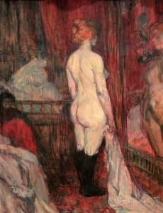 'Woman Before a Mirror' by Henri de Toulouse-Lautrec (1897 AD).