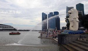 The Merlion.
