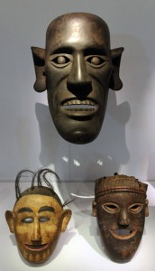 Masks from the Batak culture.
