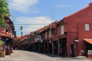 Jalan Laksamana street in the historic city of Malacca.