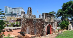 """Famosa"", the remnants of the ancient fortress of Malacca."