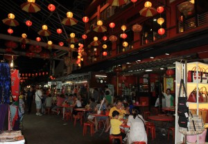 The Petaling Street night market.