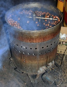 Chestnuts roasting in the night market.