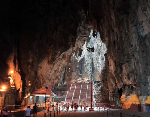 Inside the Temple Cave.