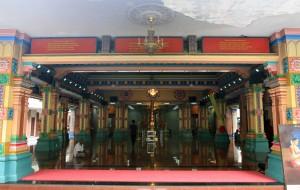 The Main Prayer Hall of Sri Mahamariamman Temple.