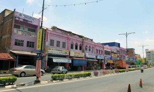 Colorful buildings in Jerantut.
