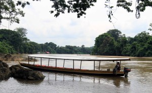 Our boat to ferry us up the Tembeling River to Kuala Tahan.