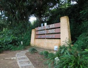 Entrance sign for Taman Negara.