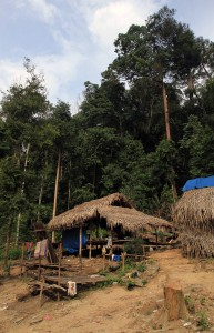 "Orang Asli (""Native People"") huts."