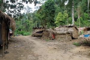 Another view of the Orang Asli village.