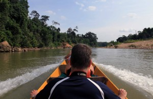 Boat ride back from the Orang Asli village.