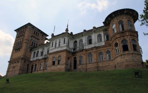 Closeup of Kellie's Castle.