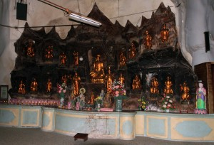 Shrine inside the cave at Sam Poh Tong.
