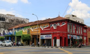 Colorful, old buildings found in Ipoh.