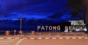 Sign at the north end of Patong Beach.