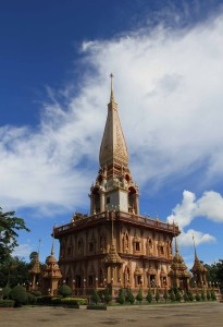 Wat Chalong Chedi, with giant pagoda on top.
