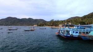 Boats near the pier at Mae Haad on Koh Tao.