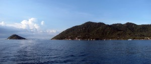 Nangyuan Island to the left of Koh Tao.