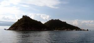 Leaving Nangyuan Island for the day.