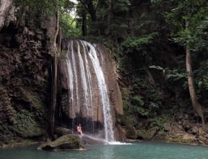 The third tier of Erawan Falls.