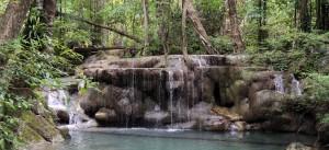 Fifth tier of Erawan Falls.