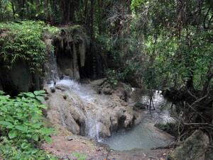 Part of the stream at Erawan Falls.