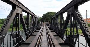 The railway tracks on the bridge over the Kwae Yai.
