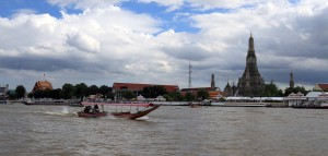 Long-tail boat in Chao Phraya River.