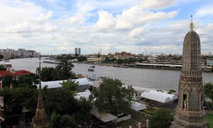 Northern view of Chao Phraya River from Wat Arun.