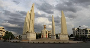 Democracy Monument in Bangkok.
