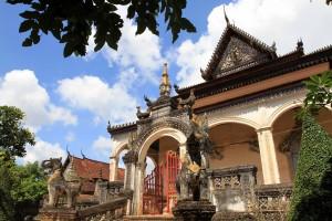 The main temple in Wat Bo.