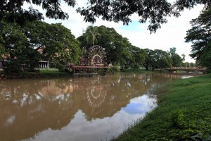 The Siem Reap River.