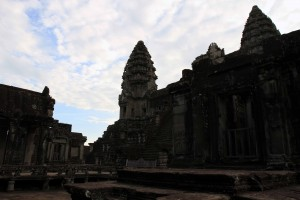 "The central ""temple mountain"" of Angkor Wat."