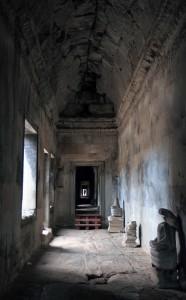 Passageway inside Angkor Wat.