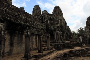 Inside Bayon temple.