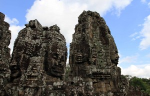 Two of the towers in Bayon.