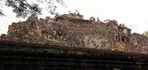 A reclining Buddha built in to the backside of Baphuon temple.