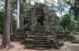 Ruins found in Angkor Thom.