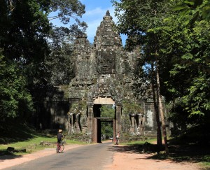 The Victory Gate of Angkor Thom.