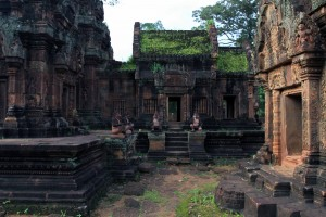 Another view of the central temple of Banteay Srei.