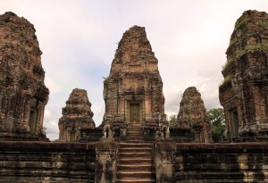 "The five towers on the ""temple mountain"" of East Mebon."