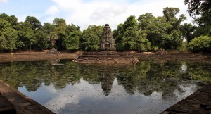 The Buddhist sanctuary in Neak Pean temple.