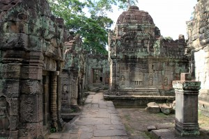 Inside the ruins of Preah Khan.