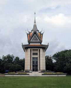 The Memorial Stupa at the Choeung Ek Genocidal Center.