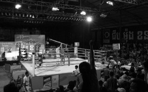 The Khmer boxing ring located behind Bayon Radio and Television studio.