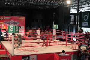 More of the first Khmer boxing fight.