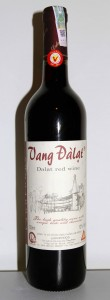 Bottle of Dalat red wine, produced in Vietnam.