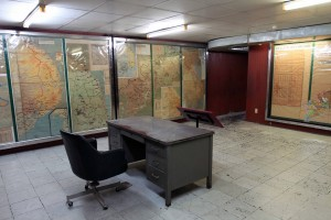 The Command Center in the bunker underneath the palace.