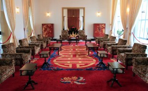 The Presidential reception rooms, where President Thieu and Henry Kissinger met in 1972, leading up to the Paris Peace Accords.