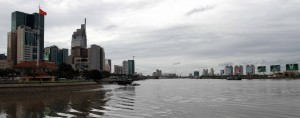 Ho Chi Minh City seen from the Saigon River.